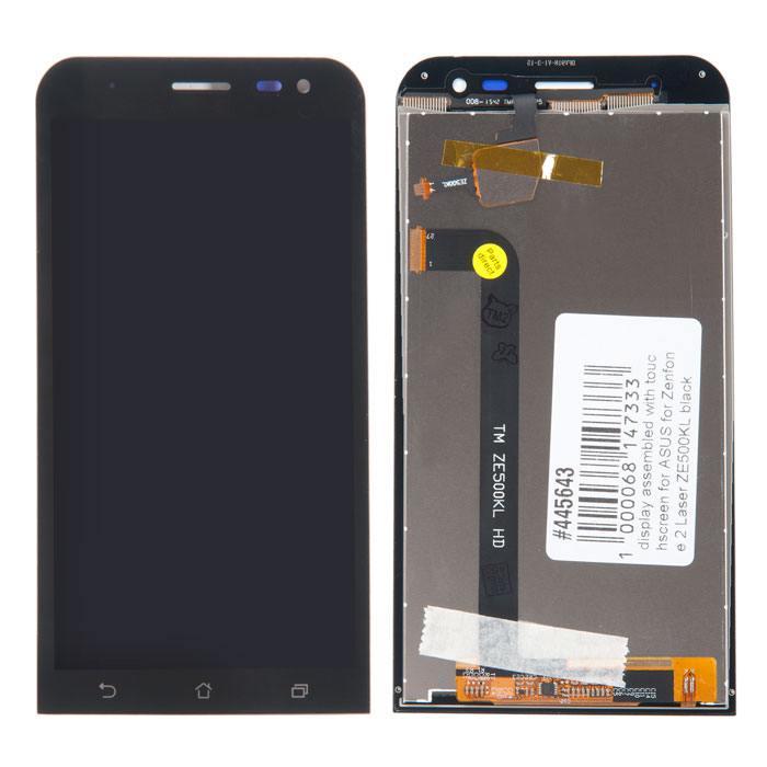 дисплей в сборе с тачскрином для Asus Zenfone 2 Laser (ZE500KL) черный (5.0