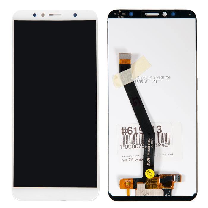дисплей в сборе с тачскрином для Huawei Honor 7A Pro, Huawei Y6 2018, Honor 7C, белый AUM-L41, AUM-L29 в Москве