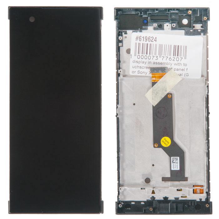 дисплей в сборе с тачскрином и передней панелью для Sony Xperia XA1 Dual (G3112), черный в Москве