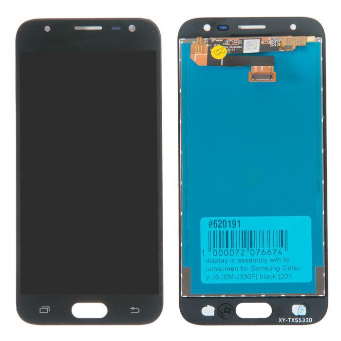 Дисплей в сборе с тачскрином (модуль) для Samsung Galaxy J3 (SM-J330F) черный (2017) TFT, цена в Нижнем Новгороде
