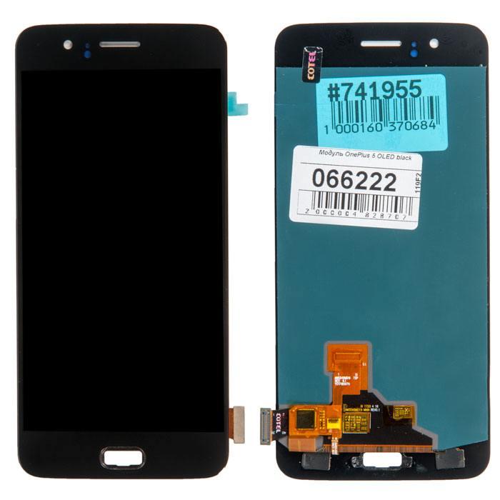 OnePlus 5 дисплей в сборе с тачскрином для OnePlus 5 OLED, черный в Самаре